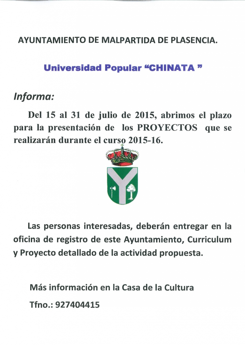 universidad Popular CHINATA